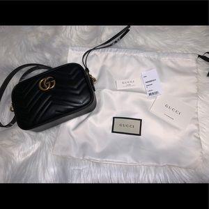 100% Authentic Gucci GG Marmont matelassé mini bag